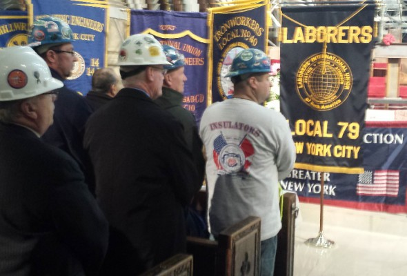 Memorial Mass Honors Construction Workers