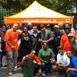 Local 79 volunteers help the Friends of Wingate Park with cleanup of park