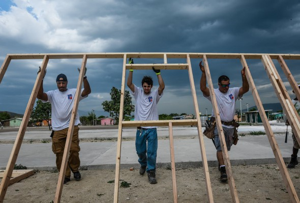 Local 79 Volunteers in Haiti with H.E.A.R.T. 9/11