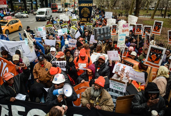Local 79 Members Rally for Truly Affordable Housing