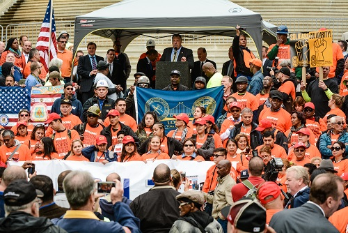 Photo of 421-a Rally in Albany