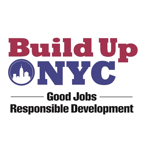 Build Up NYC logo sign