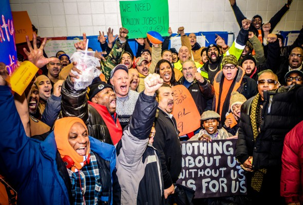 Rally for Affordable Housing and Union Construction jobs
