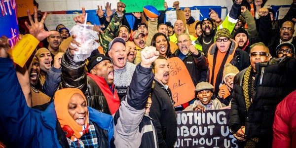 Local 79 Members Rally for Affordable Housing and Union Construction Jobs in the Bronx