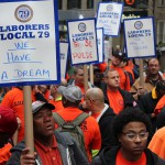 Photos of Local 79 members at May Day 2015
