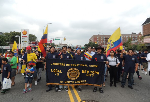 Ecuadorean Day Parade Draws Huge Crowd