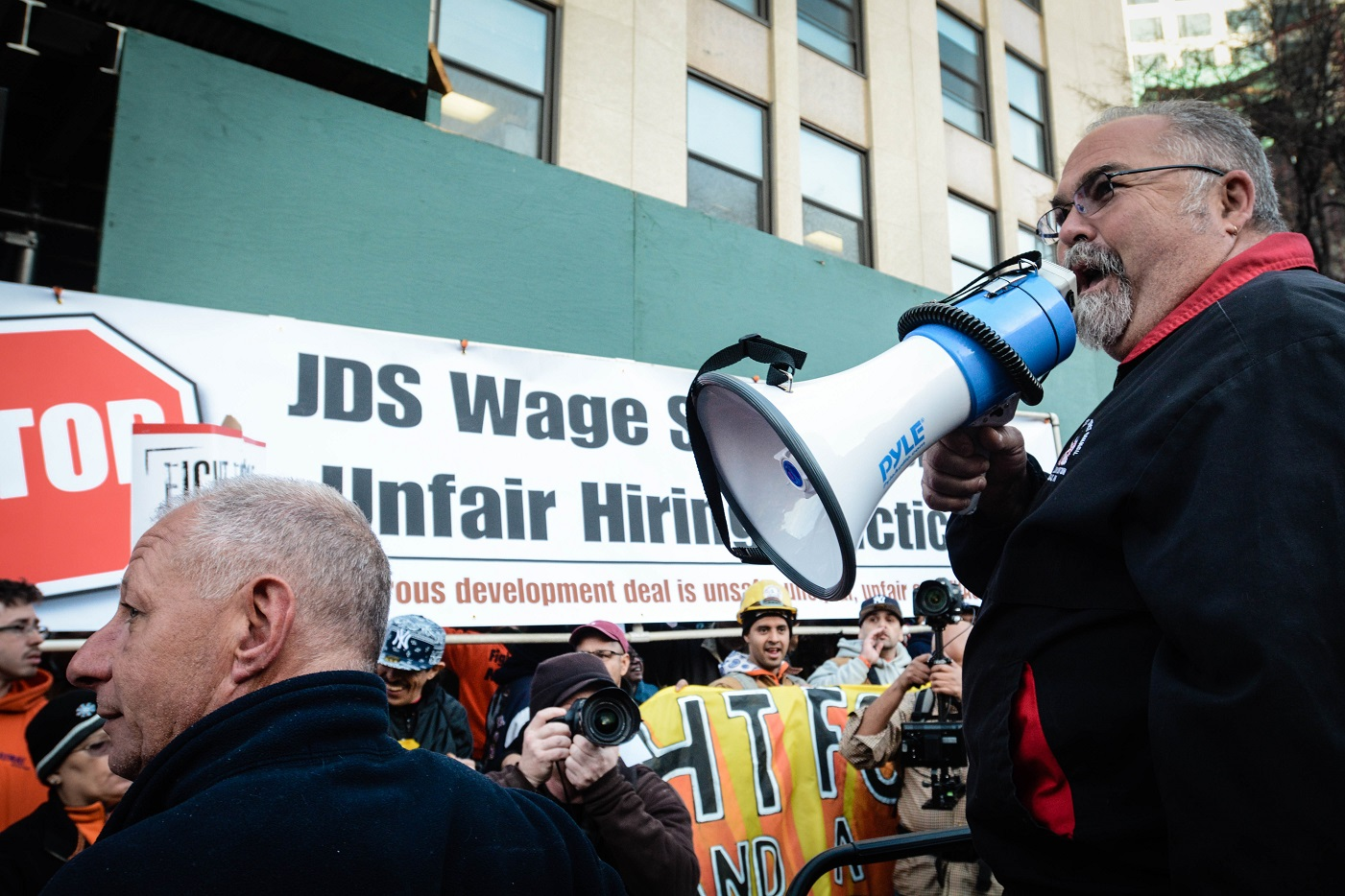 """Mike Prohaska addresses crowd at """"Fight for $15"""" rally"""