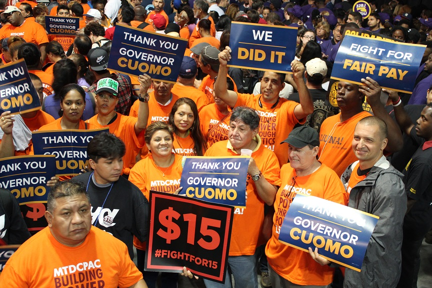 LiUNA workers support he Fight for $15