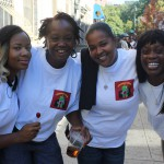 Four women at 2015 African-American Day Parade