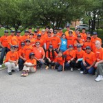 Group shot of Local 79 park cleanup volunteers