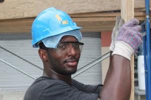 Photo of apprentice in training