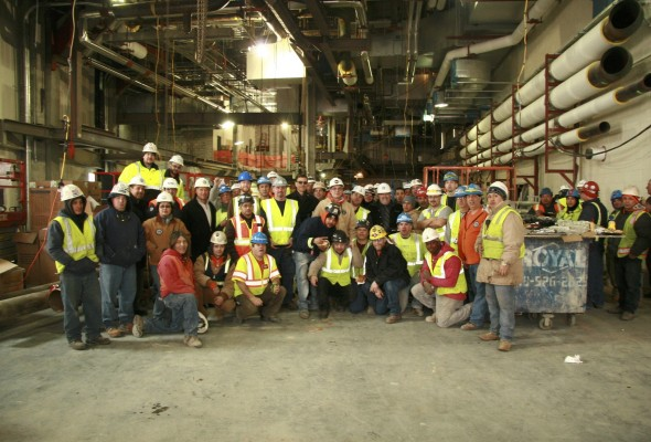 Local 79 Job Site Visit at NYU Medical Center