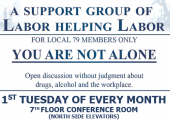 Local 79's Membership Assistance Program Recovery Support Group!!