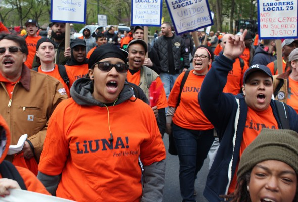 May Day Rally Draws Thousands