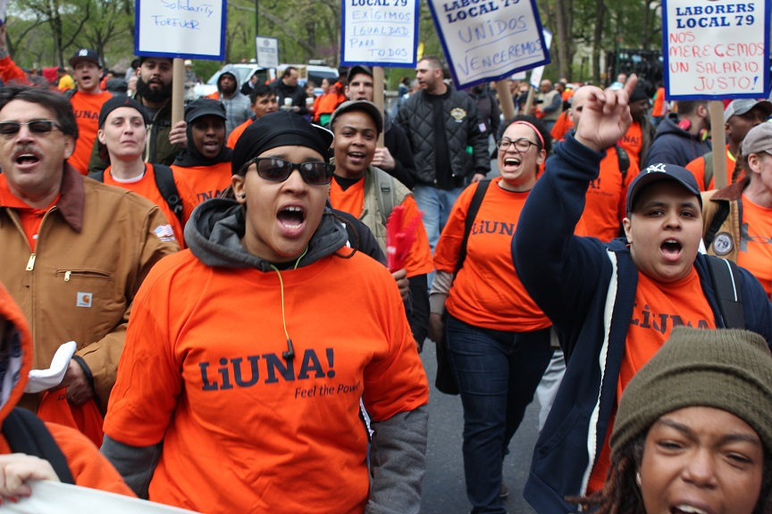 Photo of May Day marchers