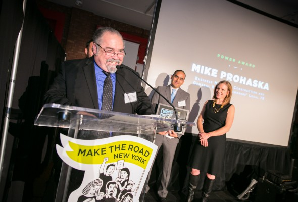 Business Manager Mike Prohaska Honored by Make the Road New York