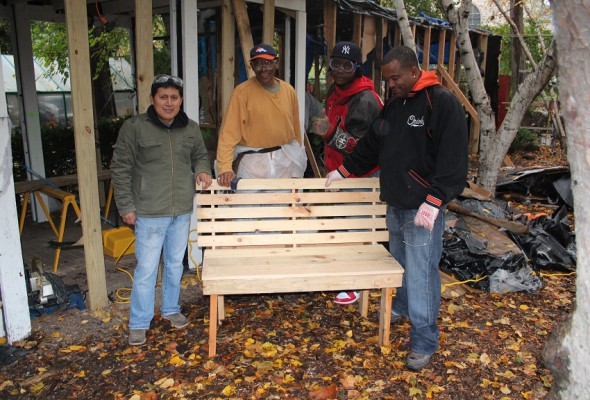 Local 79 Builds Benches in the Bronx