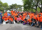 Local 79 Members Volunteer at Flushing Meadows-Corona Park