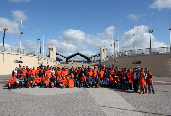 Local 79 Volunteers Clean Up Flushing Meadows-Corona Park