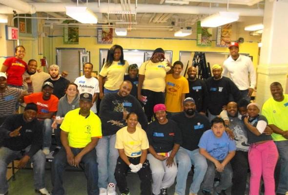Local 79 Volunteers Help Brighten Up Schools