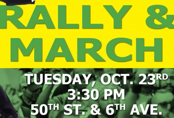 Rally Alert!! Tuesday, October 23, 2018 at 3:30 pm