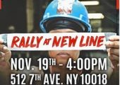 Rally at New Line Tuesday, November 19, 2019 – 4:00 pm