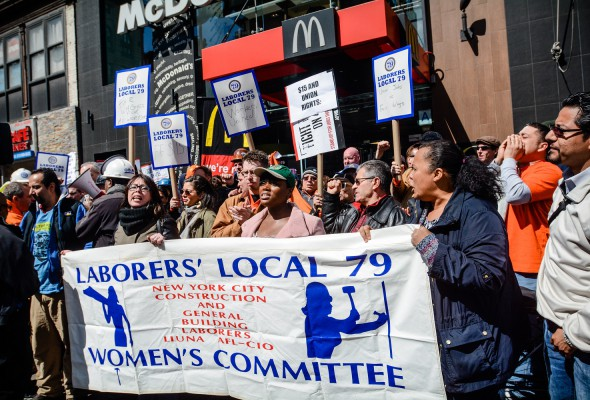 """Local 79 Supports """"Fight for $15"""" and Union Jobs"""